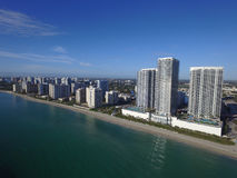 Воздушное фото Hallandale Флорида Стоковая Фотография