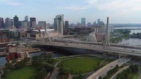 Воздушное hyperlapse видео- Бостон 4k трутня акции видеоматериалы
