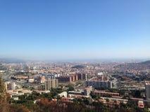 воздушное tibidabo горизонта горы города barcelona к взгляду Стоковое фото RF