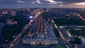 Воздушное timelapse от трутня района Аркадии в Одессе Украине сток-видео