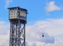 воздушное vell tramway barcelona гаван Стоковые Фото