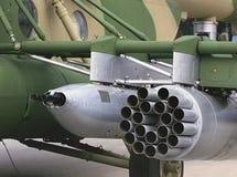 Воздушнодесантное вооружение штурмового вертолета Стоковые Изображения