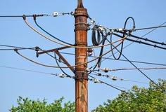 Воздушные кабели руководства стоковые изображения