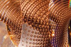Воздушные пузыри яркого блеска в стекле Стоковые Изображения