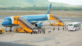 Воздушные судн авиакомпании Вьетнама стоковые фотографии rf