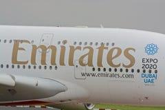 Воздушные судн аэробуса A380 Стоковое Фото
