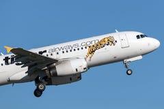 Воздушные судн аэробуса A320 Tiger Airways Tigerair Стоковое фото RF