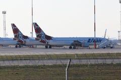 Воздушные судн Боинга 737-800 авиакомпаний Utair Украины Стоковое Изображение RF