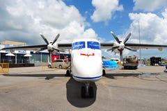 Воздушные судн взлета & посадки нового поколения RUAG Dorner 228 короткие (STOL) на дисплее на Сингапуре Airshow 2012 Стоковая Фотография RF