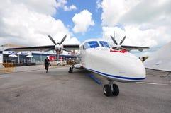 Воздушные судн взлета & посадки нового поколения RUAG Dorner 228 короткие (STOL) на дисплее на Сингапуре Airshow 2012 Стоковые Изображения
