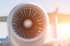 Воздушные судн двигателя вентилятора turbo двигателя Стоковые Фотографии RF
