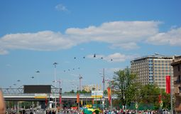 Воздушные судн в воздухе Стоковые Фото
