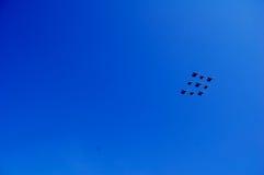 Воздушные судн в воздухе Стоковое Фото