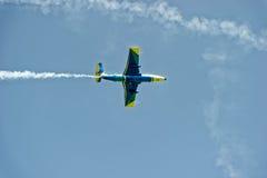 Воздушные судн дельфина L-29 в мухе Стоковая Фотография