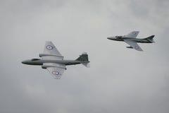 Воздушные судн Канберры и охотника стоковое изображение
