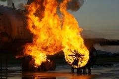 Воздушные судн на огне Стоковая Фотография RF