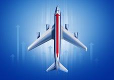 Воздушные судн с стрелкой Стоковые Изображения