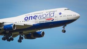 Воздушные судн British Airways Боинга 747-400 Стоковые Фото