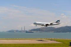 Воздушные судн Cathay Pacific Стоковая Фотография