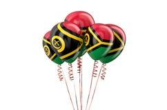 Воздушные шары Вануату патриотические, holyday концепция Стоковое фото RF