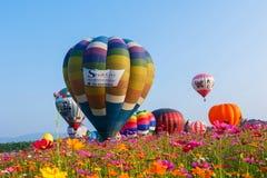 Воздушные шары, воздушные шары в небе, фестивале воздушного шара, фиесте 2017 воздушного шара Singhapark международной, Chiang Ra Стоковые Изображения RF