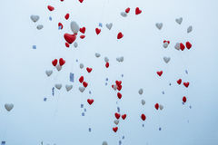 Воздушные шары в небе стоковая фотография rf