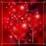 Воздушные шары в форме сердца Стоковые Фото
