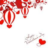 Воздушные шары в форме сердца Стоковые Изображения