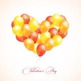 Воздушные шары в форме сердца Стоковое Изображение