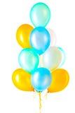 Воздушные шары гелия изолированные на белой предпосылке Стоковые Фотографии RF