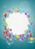 Воздушные шары летания с чистым листом бумаги Стоковые Фотографии RF