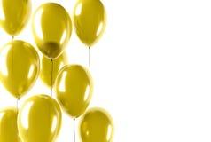 Воздушные шары золота партии Стоковые Фотографии RF