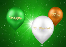 Воздушные шары Ирландского дня St. Patrick Стоковая Фотография RF