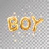 Воздушные шары мальчика золота Стоковые Изображения