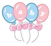 воздушные шары младенца Стоковое Фото