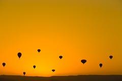 Воздушные шары на небе Стоковое фото RF