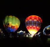 Воздушные шары на ноче Стоковые Фотографии RF