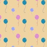 Воздушные шары дней рождения Стоковое Фото