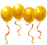 воздушные шары 2015 Новых Годов Стоковые Фотографии RF