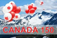 Воздушные шары дня Канады Стоковые Фото