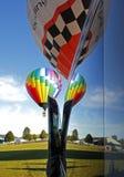 Воздушные шары окна отражения горячие Стоковое Изображение RF
