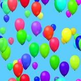 Воздушные шары партии в небе Стоковые Фото