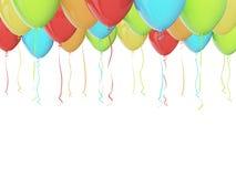 Воздушные шары партии иллюстрация вектора