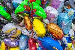 воздушные шары покрасили Стоковые Изображения