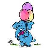 Воздушные шары праздника слона иллюстрация вектора