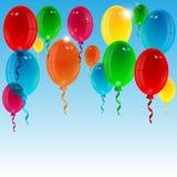 Воздушные шары различного цвета Стоковые Изображения