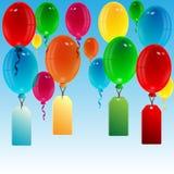 Воздушные шары различного цвета Иллюстрация штока