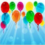 Воздушные шары различного цвета Стоковое Изображение