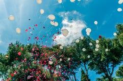 Воздушные шары свадьбы Стоковое фото RF