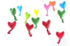 Воздушные шары сердец влюбленности Стоковые Изображения